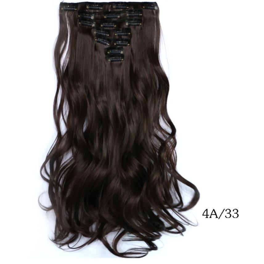 Накладные волосы локоны 7 прядей на клипсах, шиньон, тресы длина 50 см 7008 №4А/33