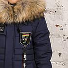Модная курточка-пальто для мальчиков - сезон зима 2019 - (модель КТ-526), фото 6