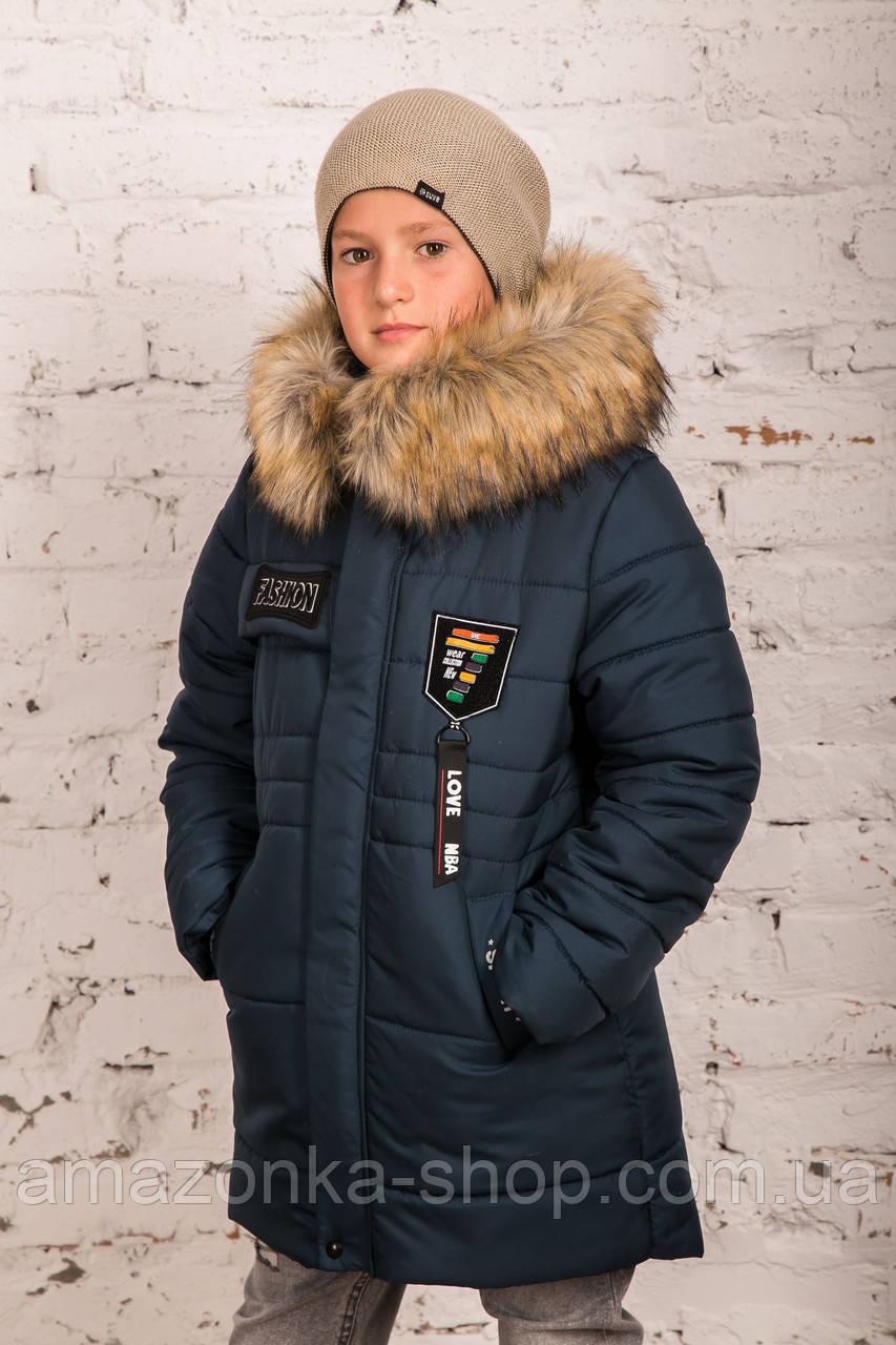 Модная курточка-пальто для мальчиков - сезон зима 2019 - (модель КТ-526)