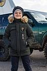 Модная курточка-пальто для мальчиков - сезон зима 2019 - (модель КТ-526), фото 4