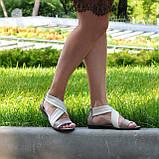 Босоножки римлянки женские кожаные, цвет визон/бежевая кожа, фото 3