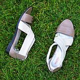 Босоножки римлянки женские кожаные, цвет визон/бежевая кожа, фото 4