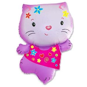 Фольгированный шар Котенок Китти розовый 54см х 78см Розовый