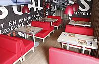 Комплект для кафе 2 дивана Квадро