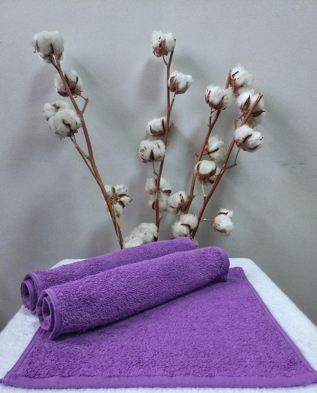 Махровая салфетка 30х30 Nostra (Без Бордюра) Фиолетовая
