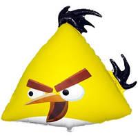Фольгированный шар  Angry Birds Желтая птица 56см х 62см Желтый