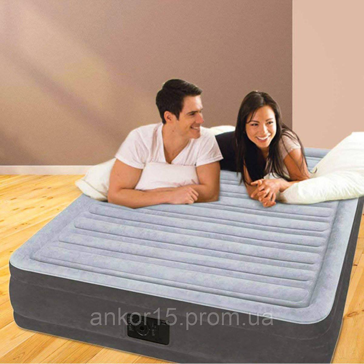 Надувная кровать Intex 67768, 137 x 191 x 33 , встроенный электронасос