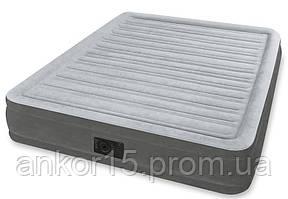 Надувне ліжко Intex 67770, 152 х 203 х 32 , вбудований електронасос