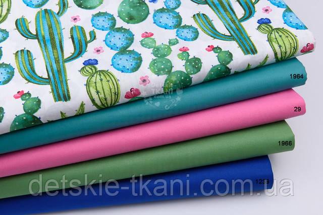Бавовняна тканина з кактусами