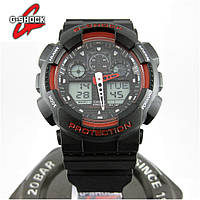 Часы Casio G-Shock GA-100 black/red. Реплика ТОП качества!, фото 1