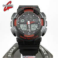 Годинник Casio G-Shock GA-100 black/red. Репліка ТОП якості!, фото 1