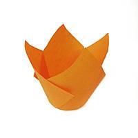 Тарталетки паперові тюльпан помаранчеві (20 шт/уп)