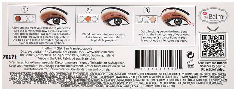Палетка тіней theBalm Smoke Balm Vol. 4 Зірвані Eyeshadow Palette, 7,2 г, фото 2