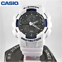 Годинник Casio G-Shock GA-100 white/black. Репліка ТОП якості!, фото 1