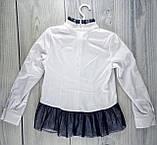 Школьная форма Блуза Глэйдис Белый-синий Suzie Украина 7 лет, 140, фото 3