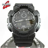 Годинник Casio G-Shock GA-100 All Black. Репліка ТОП якості!
