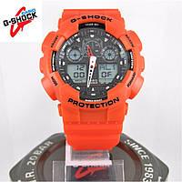 Часы Casio G-Shock GA-100 red/black. Реплика ТОП качества!, фото 1