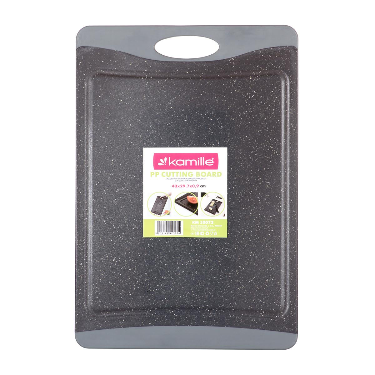 Доска разделочная Kamille 43*29,7*0,9cm пластиковая KM-10072