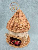 Чайний будиночок коричневий 16х25 см декоративний