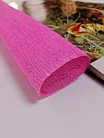 Гофрированная бумага розовая