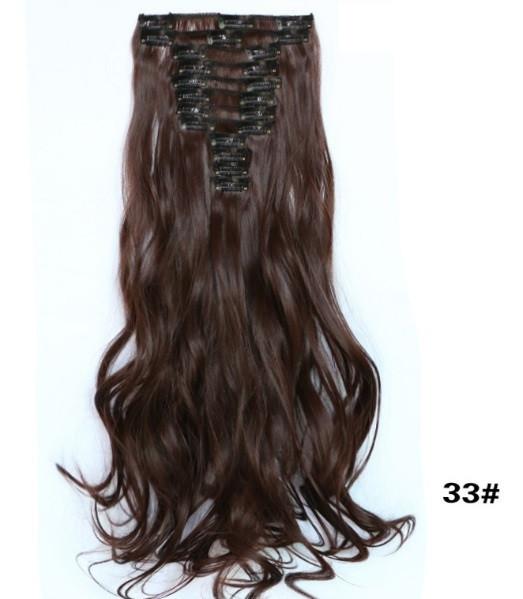 Накладные волосы с локонами не дорого 12 прядей длинные - 55 см. 1208№33