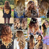 Накладные волосы с локонами не дорого 12 прядей длинные - 55 см. 1208№33, фото 2