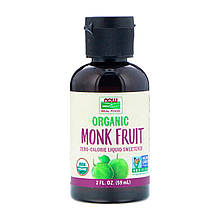 "Жидкий подсластитель архат NOW Foods ""Organic Monk Fruit"" органический (59 мл)"