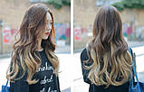 Накладные волосы локоны 12 прядей длинные - 55 см., фото 3
