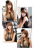Накладные ровные волосы  7 прядей на клипсах, трессы длинна 55 см. 7006№613, фото 2