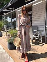 Женское стильное длинное платье с принтом