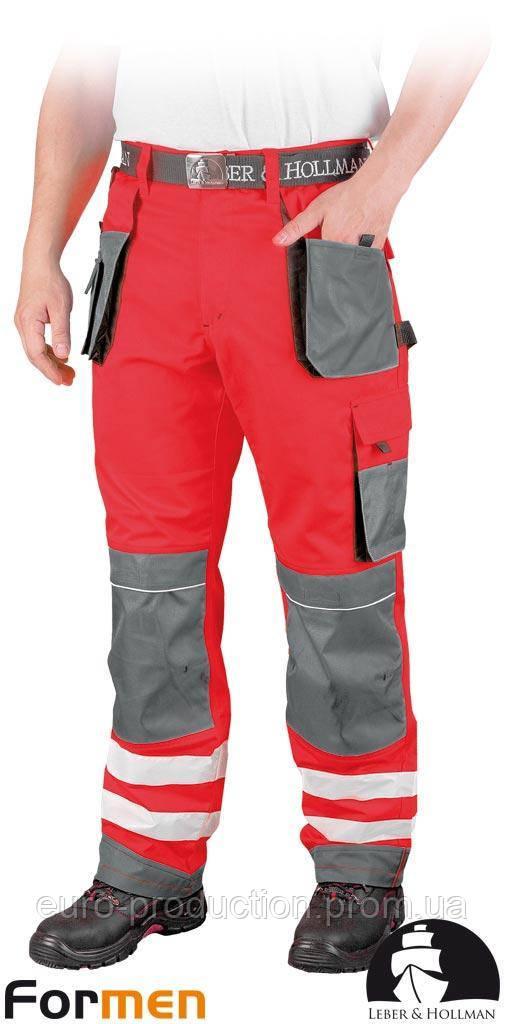 Брюки рабочие сигнальные LEBER&HOLLMAN (рабочая одежда сигнальная) LH-FMNX-T CSB
