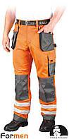 Брюки рабочие сигнальные LEBER&HOLLMAN (рабочая одежда сигнальная) LH-FMNX-T PSB