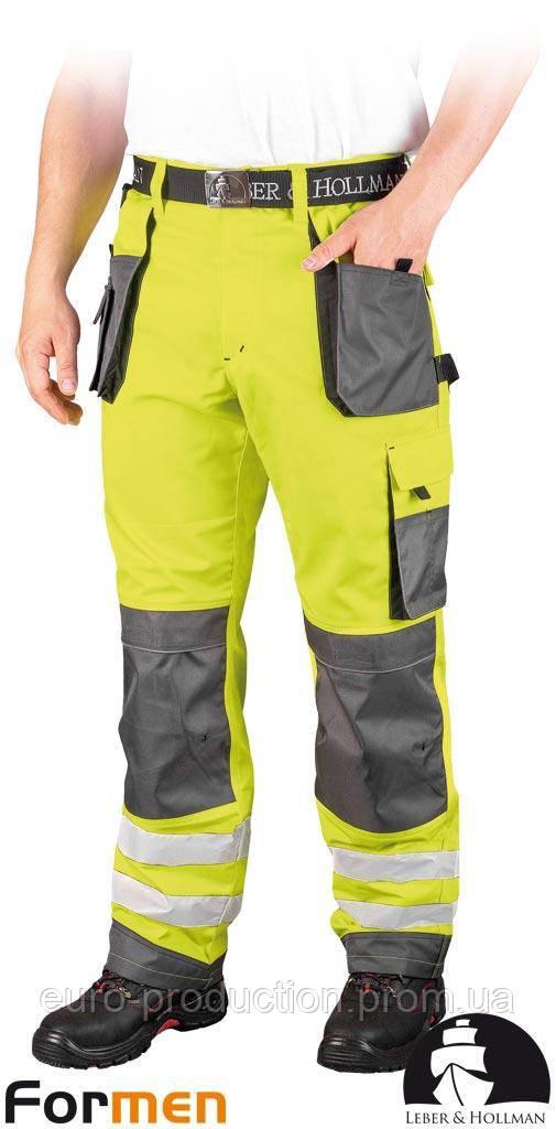 Брюки рабочие сигнальные LEBER&HOLLMAN (рабочая одежда сигнальная) LH-FMNX-T YSB
