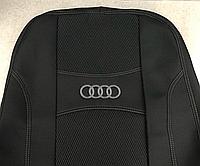 Чехлы на сиденья, авточехлы AUDI A4 (B5) 1994-2000 задняя спинка 2/3; подлокотник; 4 подг; бочки; п/подл; airbag.  Nika