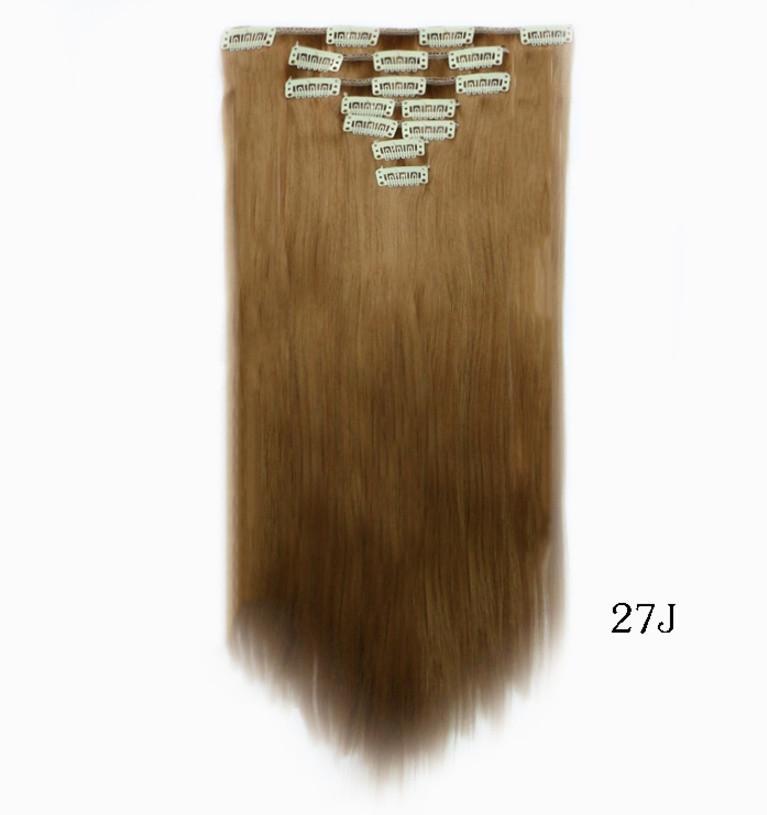 Накладные ровные волосы  7 прядей на клипсах, трессы длинна 55 см. 7006№27J