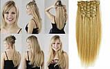 Накладные ровные волосы  7 прядей на клипсах, трессы длина 55 см. 7006№24, фото 2