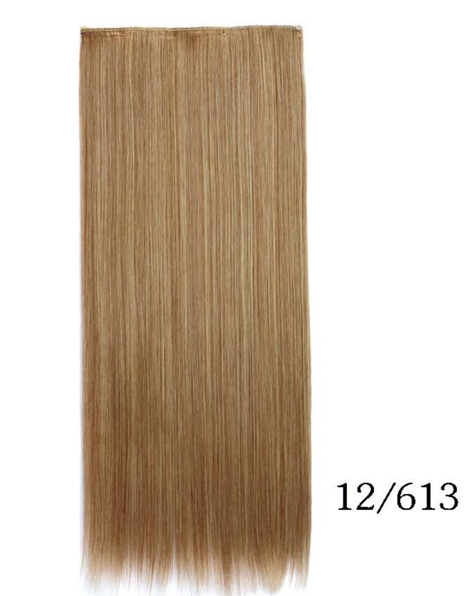 Ровные трессы, накладные волосы 60 см мелирование 5006/№12/613