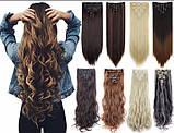 Ровные трессы, накладные волосы 60 см мелирование 5006/№12/613, фото 3