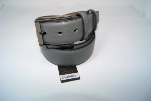 Ремень мужской кожаный классический (серый) ALON