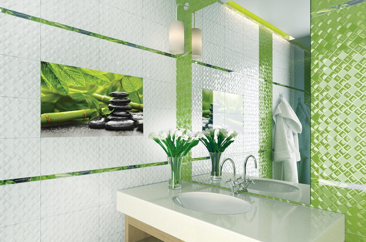 Плитка для стін Relax білий 250x400x8 мм