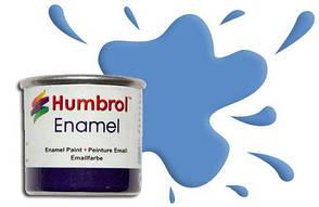 Краска для сборных моделей эмалевая. Голубая матовая 14 мл. HUMBROL 089