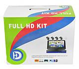 Комплект видеонаблюдения беспроводной DVR KIT CAD Full HD UKC 8004 WiFi 4ch набор на 4 камеры, фото 9