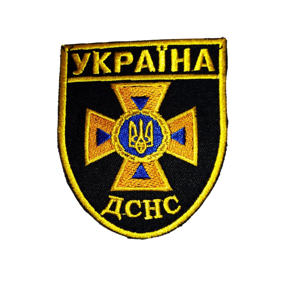 Нарукавний Знак ДСНС України Жовтий 80х65