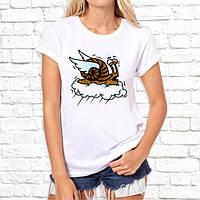 Жіноча футболка з принтом Равлик на хмарі Push IT