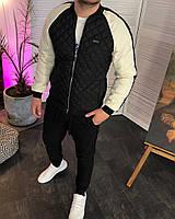 Бомбер Gucci стеганный с белыми рукавами