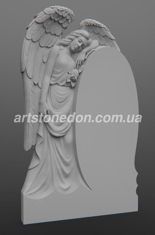 Памятник в виде ангела №333 гранитный резной -1