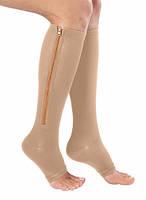 Компрессионные гольфы Zip Sox,носки от варикоза зип сокс бежевые
