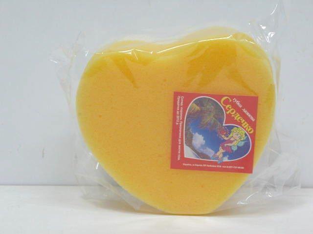 Мочалка  из поролона Сердечко   (1 пач)