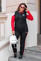 Спортивный костюм тройка с жилетом двухнить Adidas (реплика)