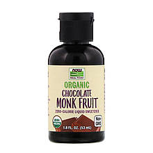 "Жидкий подсластитель архат NOW Foods ""Organic Chocolate Monk Fruit"" со вкусом шоколада (53 мл)"